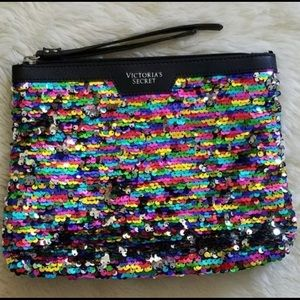 Victorias Secret Rainbow Sequined Bag Purse Beauty